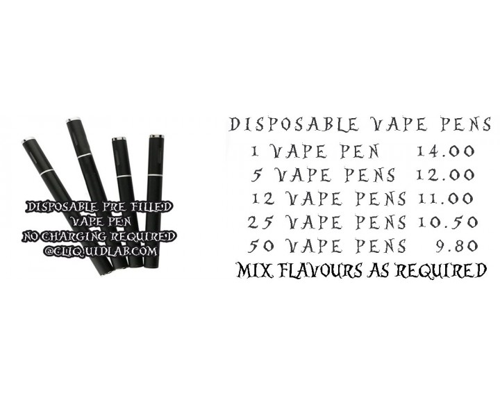 Disposable Vape Pens at bargain prices